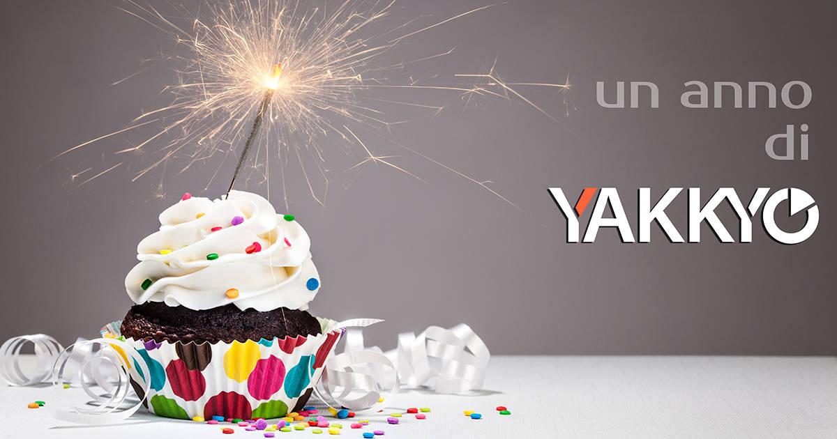 Yakkyo festeggia il suo primo anniversario e il suo primo milione di euro.