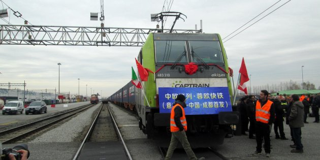 treno merci cina italia